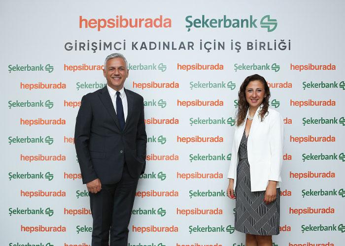 Hepsiburada ve Şekerbank iş birliği ile girişimci kadınlara 250.000 TL'ye kadar destek.